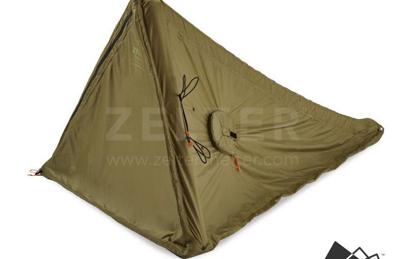 Shelter, Tent, three-quarter view (Green)
