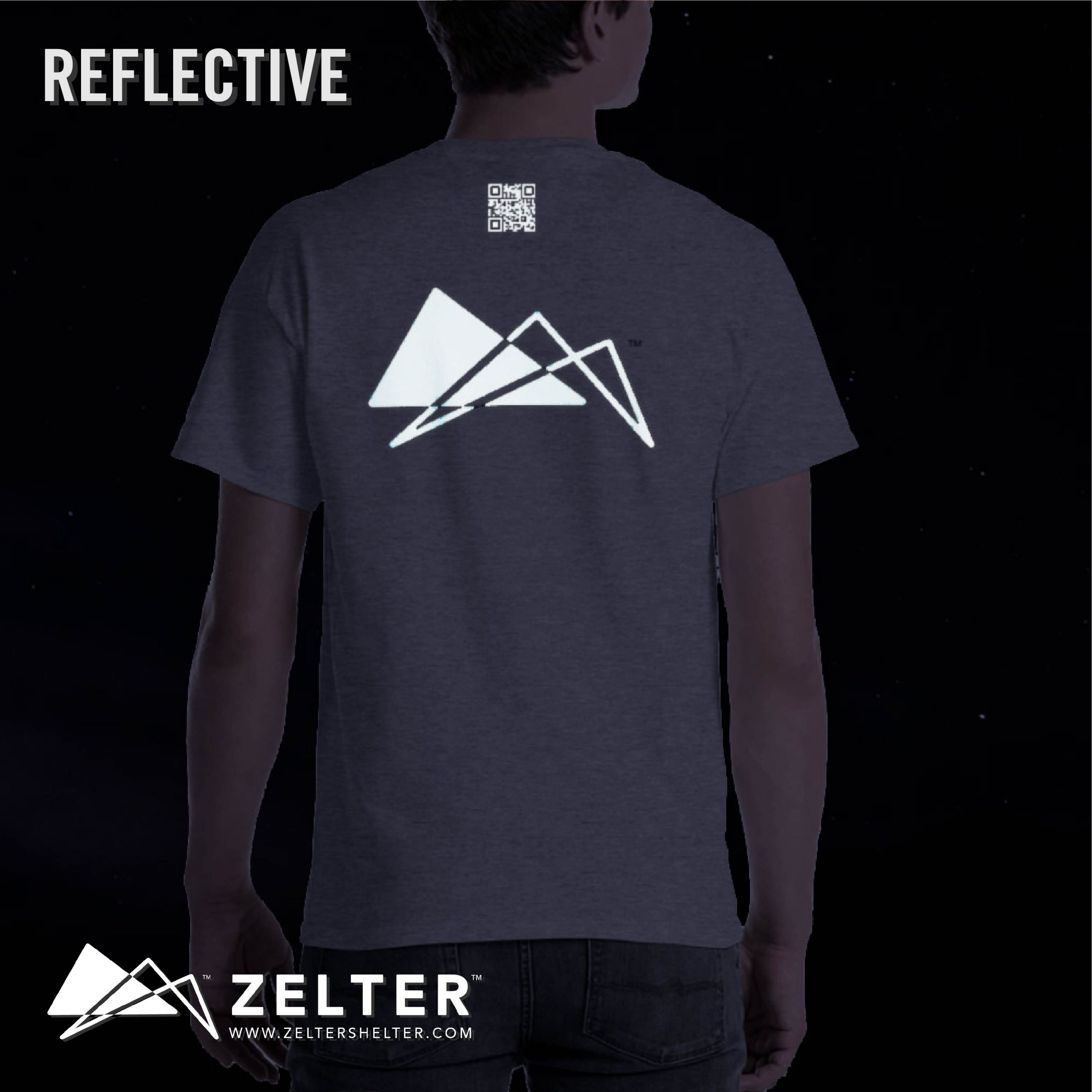 ZLTR REFLECTIVE PT SHIRT – GREY